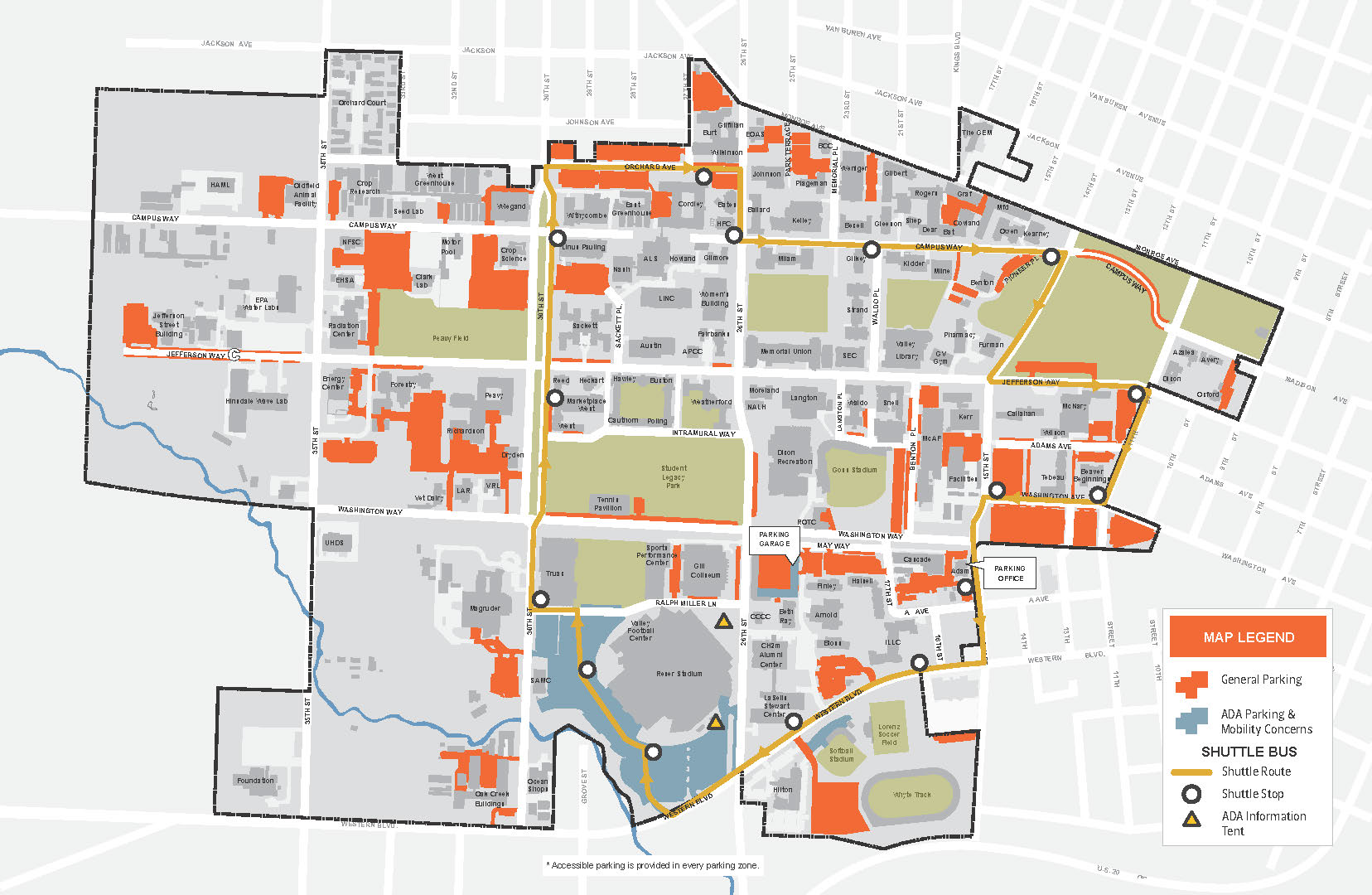 Osu Parking Map Parking & Shuttle Map | Commencement | Oregon State University