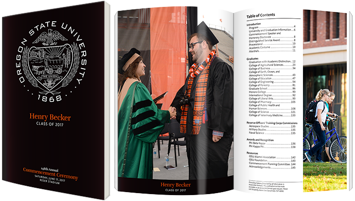 Photo of personalized Commencement Program Book